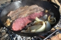 Cooking-Steak-in-Cast-Iron-Skillet-Over-Campfire1